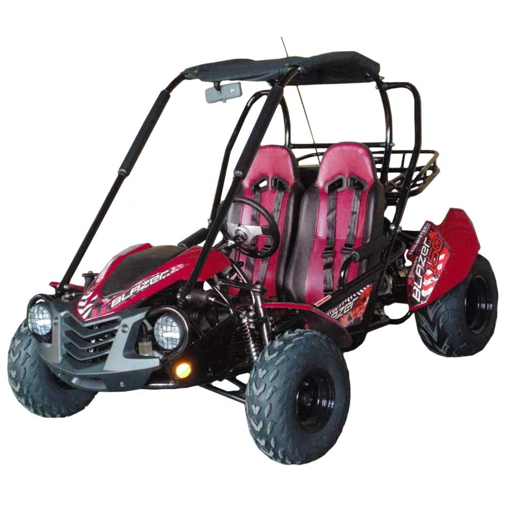 TrailMaster Blazer 150 Go Kart Red