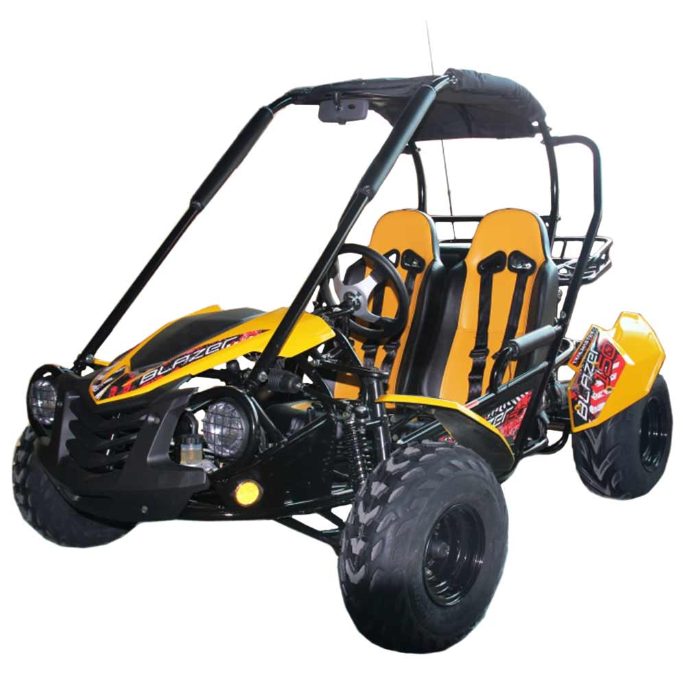TrailMaster Blazer 150 Go Kart Yellow