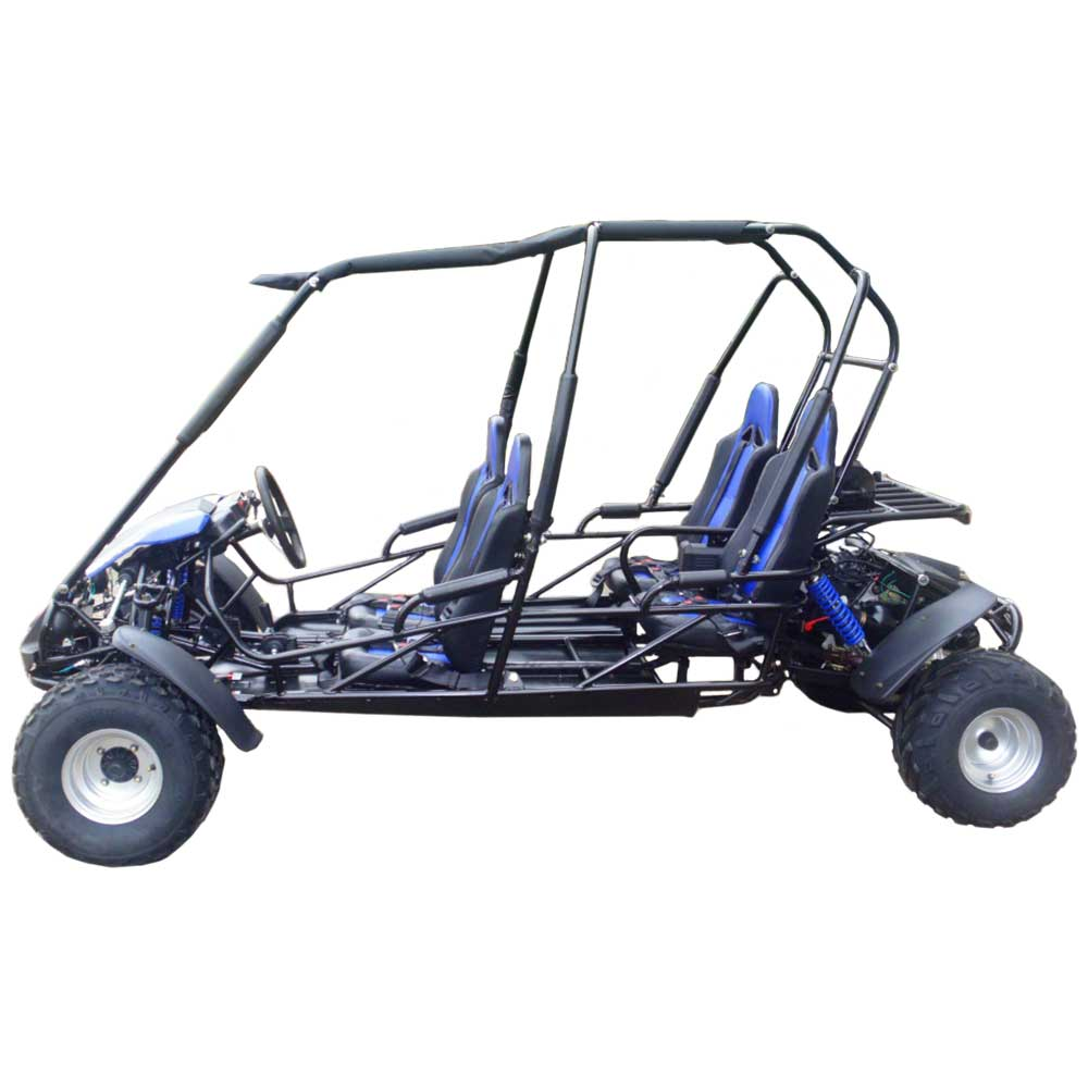 TrailMaster Blazer4 Go Kart Blue Left