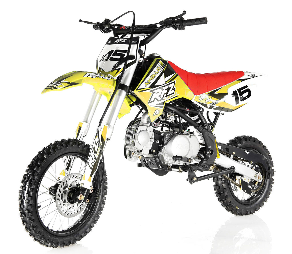 Apollo X15 125cc Dirt Bike Yellow