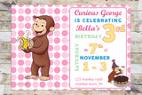 Birthday Invitation - Curious George | Celebration (Girl)