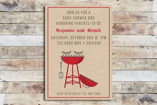Baby Shower Invitation - BBQ
