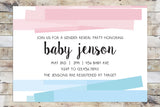 Baby Shower Invitation - Gender Reveal | Unwrapped