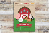 Birthday Invitation - Barnyard Birthday (It's going to be big!)