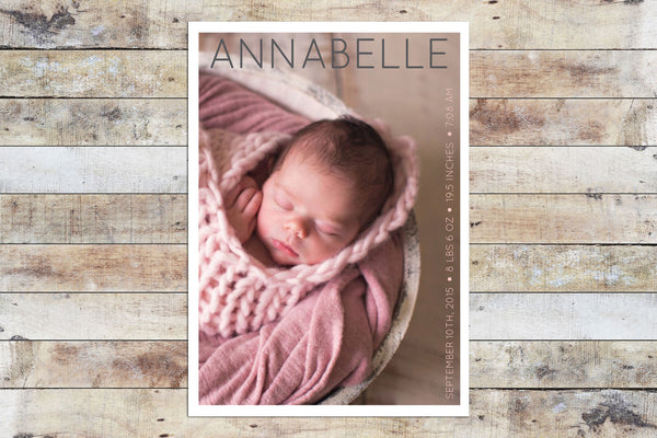 Birth Announcement - Lovely