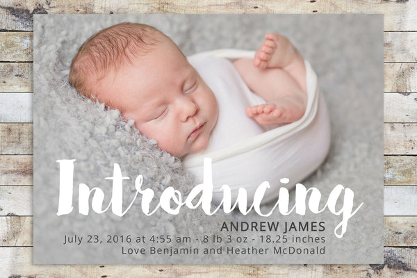 Birth Announcement - Introducing
