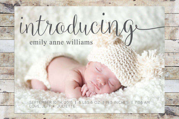 Birth Announcement - Long Introduction