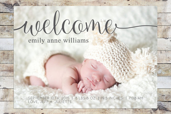Birth Announcement - Long Welcome