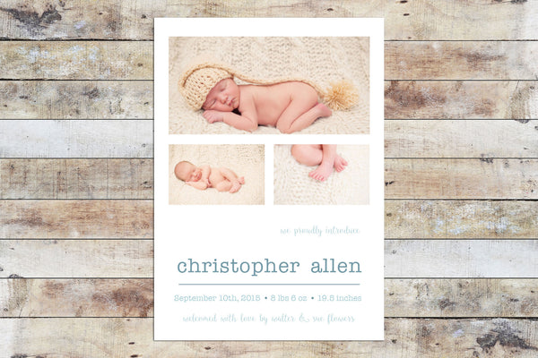 Birth Announcement - We Proudly Introduce (Boy)