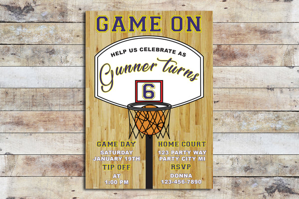 Birthday Invitation - Basketball (Sports)