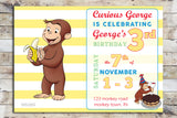 Birthday Invitation - Curious George | Celebration