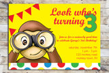 Birthday Invitation - Curious George | Look Who's Turning (age)