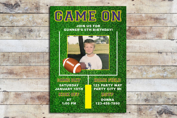 Birthday Invitation - Football