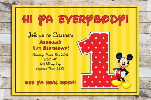 Birthday Invitation - Mickie Mouse | My Age