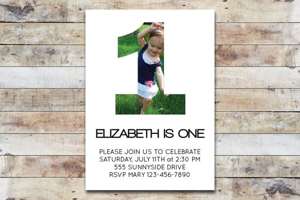 Birthday Invitation - My Age w/ Photo
