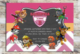 Birthday Invitation - Paw Patrol | Chevron Team (Skye & Everest)