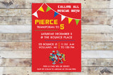 Birthday Invitation - Transformers Rescue Bots | Team and Banner