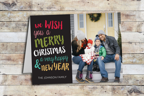 Holiday Card - Colorful Wishes