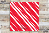 Holiday Card - Candy Cane Colors Polaroid Style Inspired