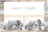 Holiday Card - Merry & Bright (Light)