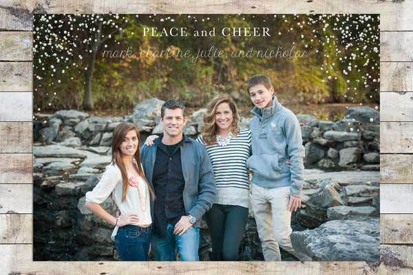 Holiday Card - Peace & Cheer Snow Flurries