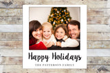 Holiday Card - Happy Holidays Polaroid Style Inspired