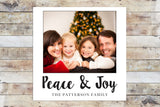 Holiday Card - Peace & Joy Polaroid Style Inspired