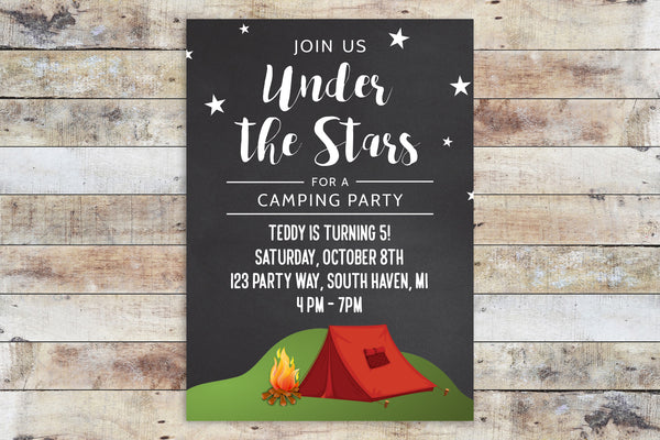 Birthday Invitation - Under the Stars