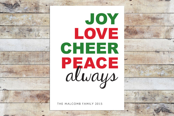 Holiday Card - Always
