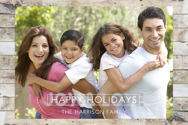 Holiday Card - Happy Holidays Joy & Love