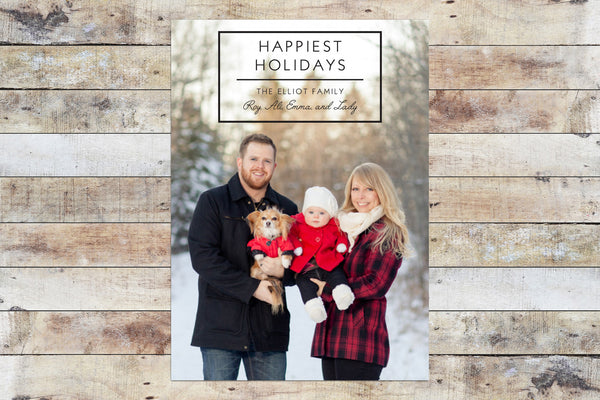 Holiday Card - Happiest Holidays