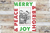 Holiday Card - Merry & Bright (Bold)