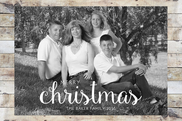 Holiday Card - Merry Christmas / Happy Holidays (Black & White)