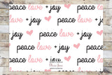 Holiday Card - Peace Love + Joy (no Photo)