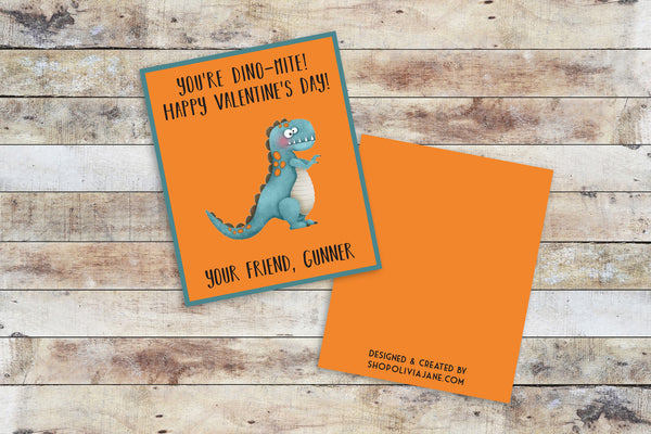 Valentines - You're Dino-Mite