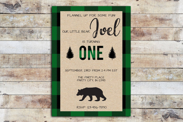 Birthday Invitation - Flannel Up