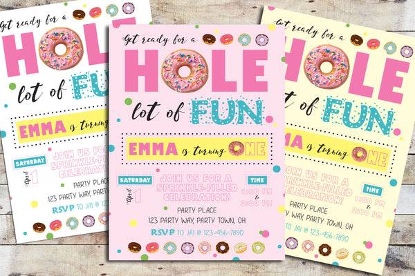 Birthday Invitation - Hole Lot of Fun (Donut)