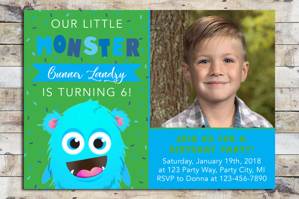 Birthday Invitation - Monster (Boy)