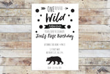 Birthday Invitation - Onederful Wild Adventure