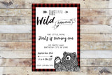 Birthday Invitation - Onederful Wild Adventure (Little Bear)