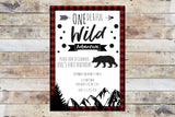 Birthday Invitation - Onederful Wild Adventure (Mountains)