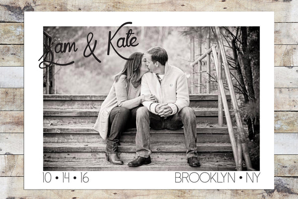 Save the Date - Black & White Photo
