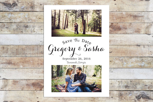 Save the Date - Double Photo