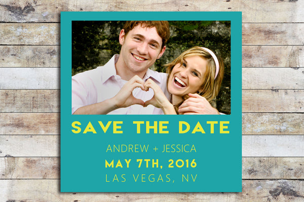 Save the Date - Polaroid Style/Inspired