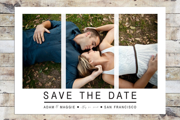 Save the Date - Triple Photo