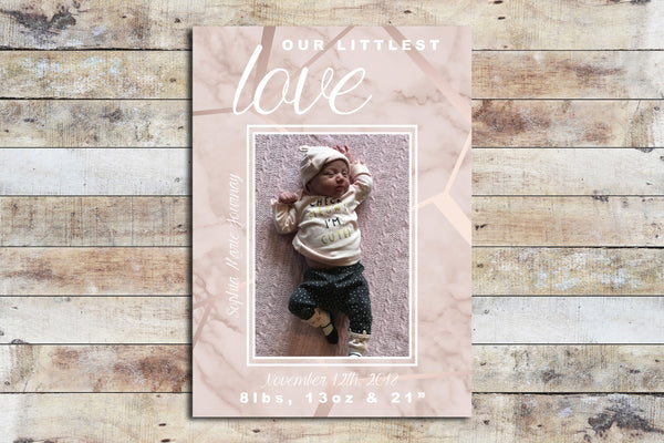 Birth Announcement - Littlest Love