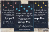 Baby Shower Invitation - Twinkle Twinkle (Chalk Sky Background)