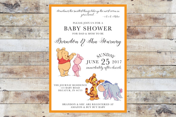 Baby Shower Invitation - Winnie the Pooh | Baby