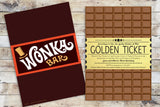 Birthday Invitation - Golden Ticket