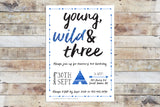 Birthday Invitation - Young Wild Three w/ Border